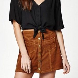 NWOT Kendall + Kylie Corduroy Mini Skirt